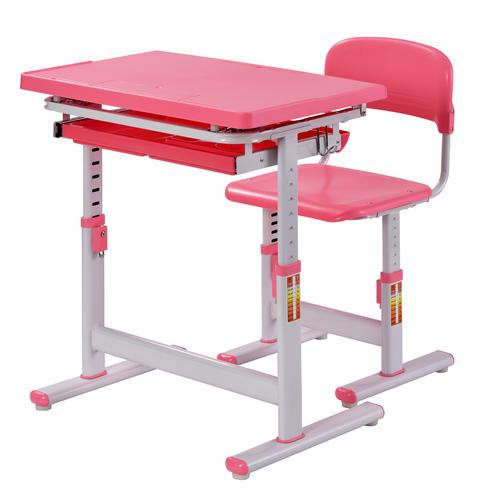Muscle Rack™ Pink/White Ergonomic Adjustable Kidsu0027 Desk At ...