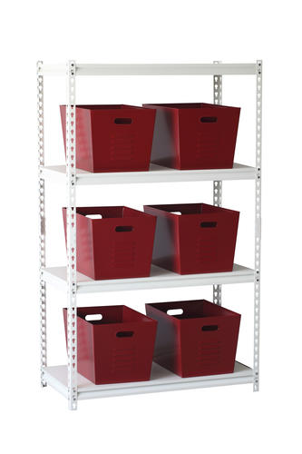 Muscle Rack 11 X 12 17 Red Steel Utility Storage Bins