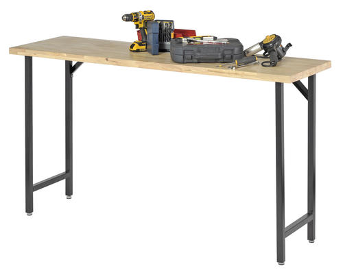 Muscle Rack 5 12 Rubber Wood Top Workbench At Menards