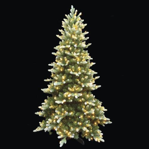 enchanted forest 75 prelit led frosted frasier artificial christmas tree at menards - Prelit Led Christmas Trees