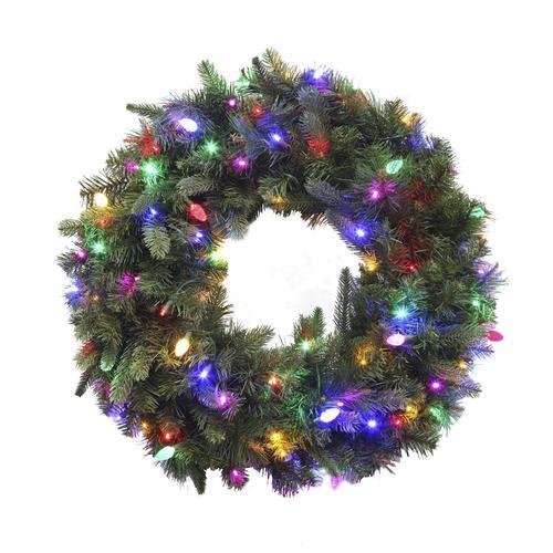 "Christmas Trees Bristol: Enchanted Forest® 30"" Prelit LED Bristol Pine Wreath At"