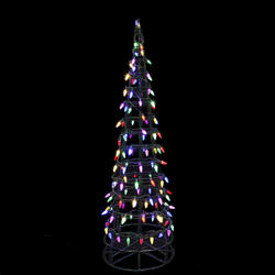 Enchanted Forest® 5' 180-Light Multicolored C5 LED Cone Tree