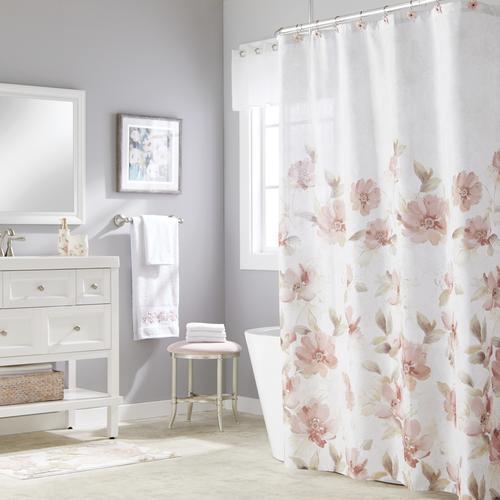 Pink Misty Fl Shower Curtain Hooks