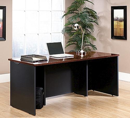 Sensational Sauder Via Classic Cherry Executive Desk At Menards Home Interior And Landscaping Spoatsignezvosmurscom