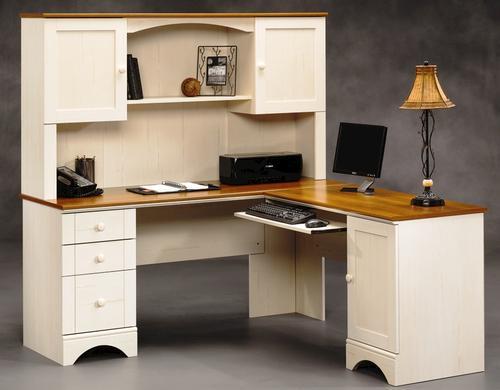 - Sauder® Harbor View Antique White Corner Computer Desk At Menards®
