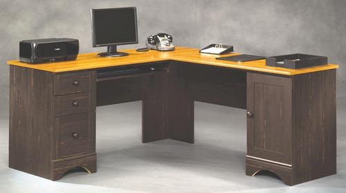 - Sauder® Harbor View Antiqued Paint Corner Computer Desk At Menards®