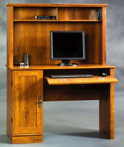 Sauder Harvest Mill Abbey Oak Computer Desk with Hutch at Menards