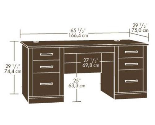 Sauder® Office Port Dark Alder Executive Desk At Menards®
