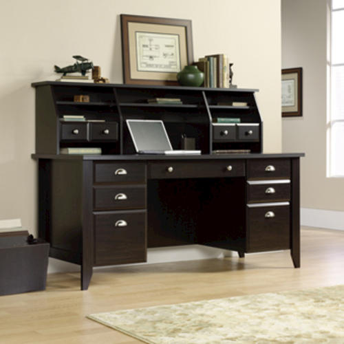 Sauder Shoal Creek Jamocha Wood Executive Desk At Menards