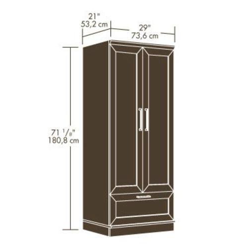 Gentil Sauder® HomePlus Dakota Oak Wardrobe/Storage Cabinet At Menards®