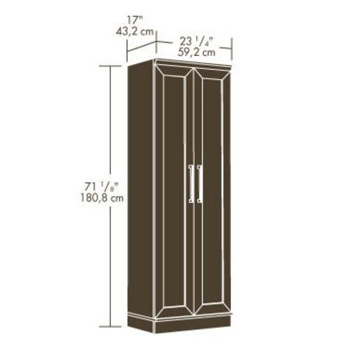 Sauder 174 Homeplus Dakota Oak Storage Cabinet At Menards 174