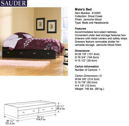 . Sauder  Shoal Creek Jamocha Wood Mate s Twin Bed at Menards