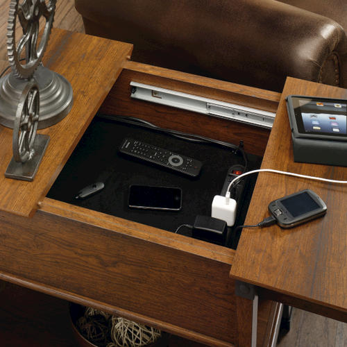 Sauder Carson Forge Washington Cherry Smartcenter Side Table