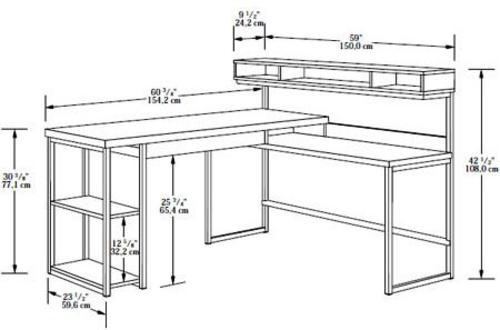 Superbe Sauder® Select Salt Oak L Shaped Desk At Menards®