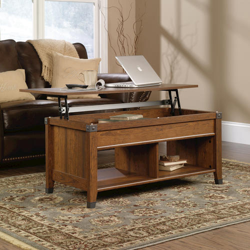 Sauder Carson Forge Washington Cherry Lift Top Coffee Table