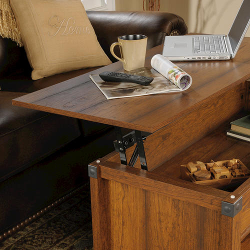 Sauder® Carson Forge Washington Cherry Lift Top Coffee Table