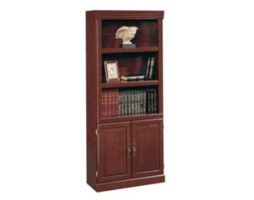 Sauder Heritage Hill Clic Cherry Library Bookcase With Doors At Menards