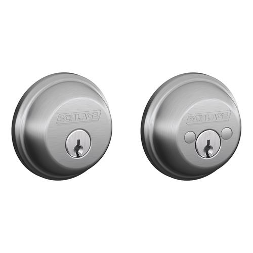 Schlage 174 Satin Chrome Double Cylinder Commercial Entry