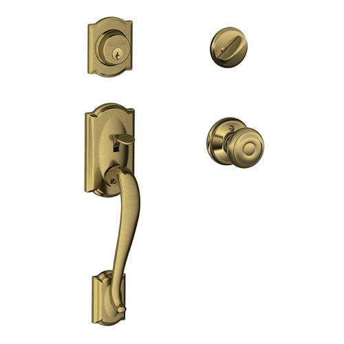 Schlage Camelot Entry Door Knob Handleset And Single Cylinder Deadbolt At Menards