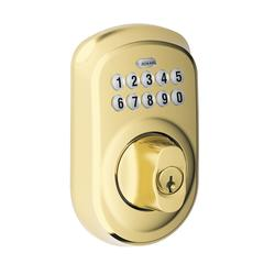 Schlage 174 Plymouth Electronic Keyless Entry Deadbolt At