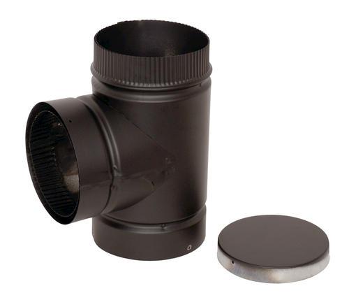sc 1 st  Menards & Selkirk Tee with Cap Black Stove Pipe at Menards®