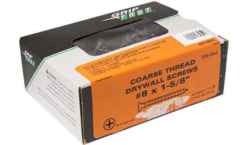 Grip Fast 8 X 1 5 8 Phillips Drive Coarse Thread Drywall Screw 1 Lb Box At Menards