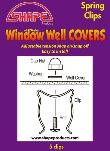 5-Pack Window Well Cover Spring Clips at Menards®