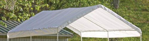 Shelterlogic Max Ap 10 X 20 White Replacement Canopy Canopy Shelter Cover At Menards