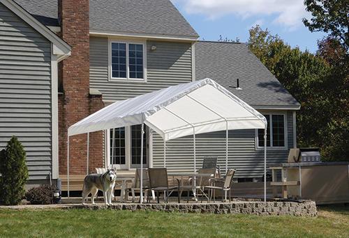 ShelterLogic Max All-Purpose 10' x 20' Canopy 8-Leg, White ...