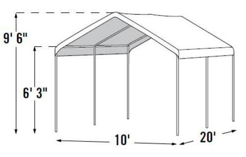 Shelterlogic Max All Purpose 10 X 20 Canopy 6 Leg White At Menards