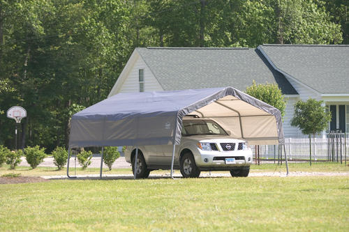 ShelterLogic Carport-in-a-Box 12' x 20' x 8' Peak Style ...