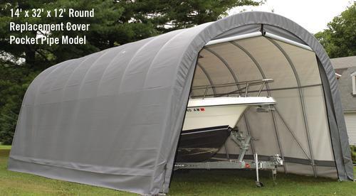 ShelterLogic RoundTop 14' x 32' x 12' Pipe Pocket ...