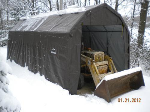 ShelterLogic® USA Wind/Snow Rated, 25' x 44' x 17' Barn Shelter, 10-Year, 14.5 oz. PE