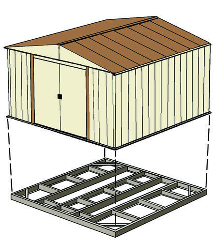 Arrow Storage Shed Foundation Base Kit At Menards