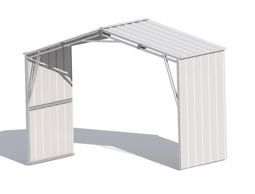 Arrow Commander Series Steel Shed 10' x 5' Extension ...