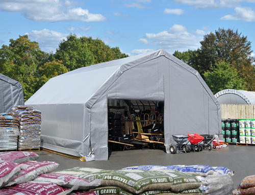 Shelterlogic Sheltertech 10 Year 14 5 Oz Pe Barn Shelter At Menards