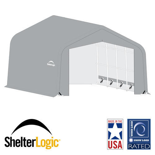 ShelterLogic® USA Wind/Snow Rated, 22' x 32' x 12' Peak Shelter, 10-Year, 14.5 oz. PE
