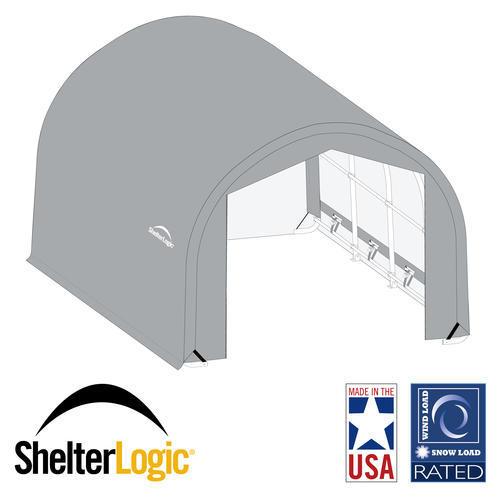ShelterLogic® USA Wind/Snow Rated, 16' x 45' x 10' Round Shelter, 10-Year, 14.5 oz. PE