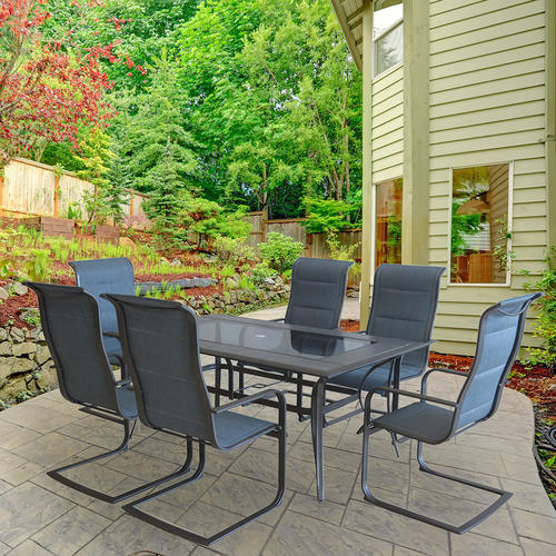 Backyard Creations® Sapphire 7 Piece Dining Patio Set At Menards®