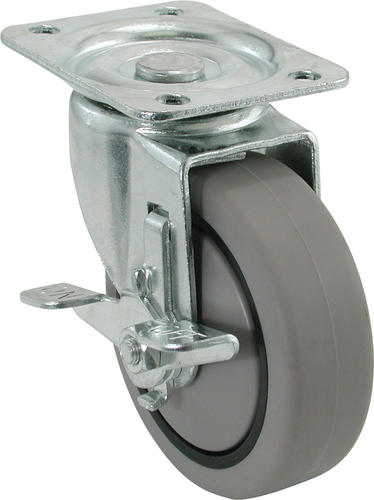 Screw Rod Rubber Caster Gflyme Caster FANYF /Φ4 // 5in Swivel Caster Wheels Medical Transport Caster with Brake DIY Hardware Accessories,4 Brake Casters,5in(125mm) Set of 4