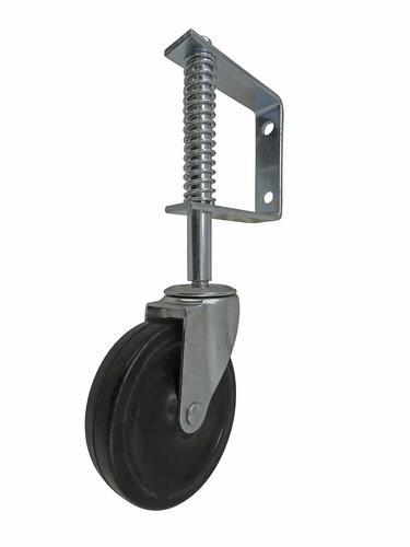"Shepherd Hardware 4/"" Rubber Wheel Gate Caster Spring Loaded Gate Support Caster"
