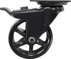 """2/"""" w// brake 4 Pack Caster Wheels Swivel Plate W// HD hardware Kit"""