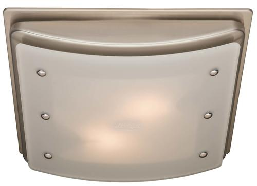 Hunter® Ellipse Brushed Nickel 100 CFM Ceiling Exhaust Bath ...