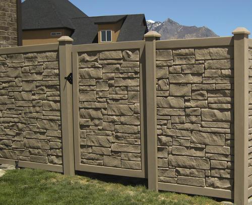 Simtek Fence 6 X 4 Ecostone Gate At Menards 174