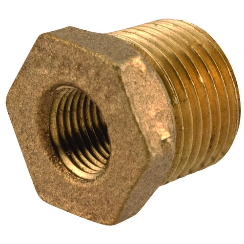 "Sioux Chief 3/8"" MIP x 1/8"" FIP Brass Hex Bushing"