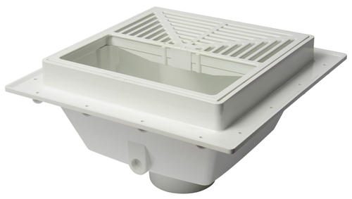 Sioux Chief Squaremax Pvc Square Floor Sink With Strainer