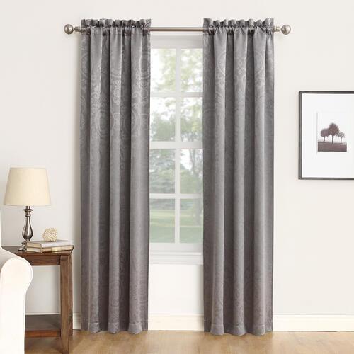 Sun Zero Delphine 37 W X 84 L Blackout Rod Pocket Curtain Panel 2 Panels At Menards