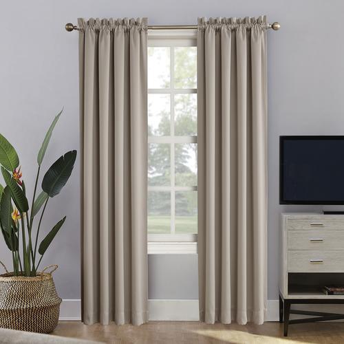 "Sun Zero™ Oslo Rod Pocket Blackout Curtain Panel 52""W X 84"