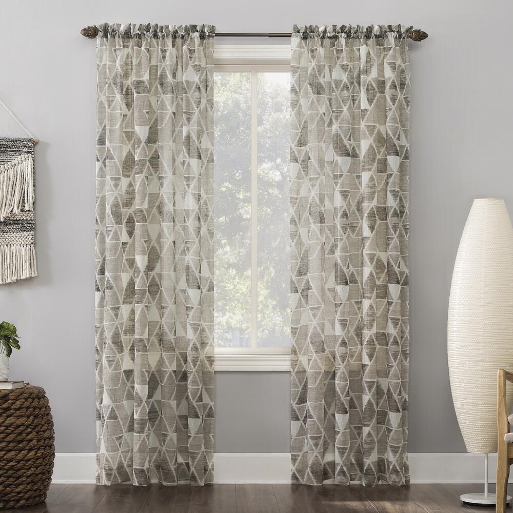 No 918 Andros 51 W X 84 L Light Filtering Rod Pocket Curtain Panel At Menards