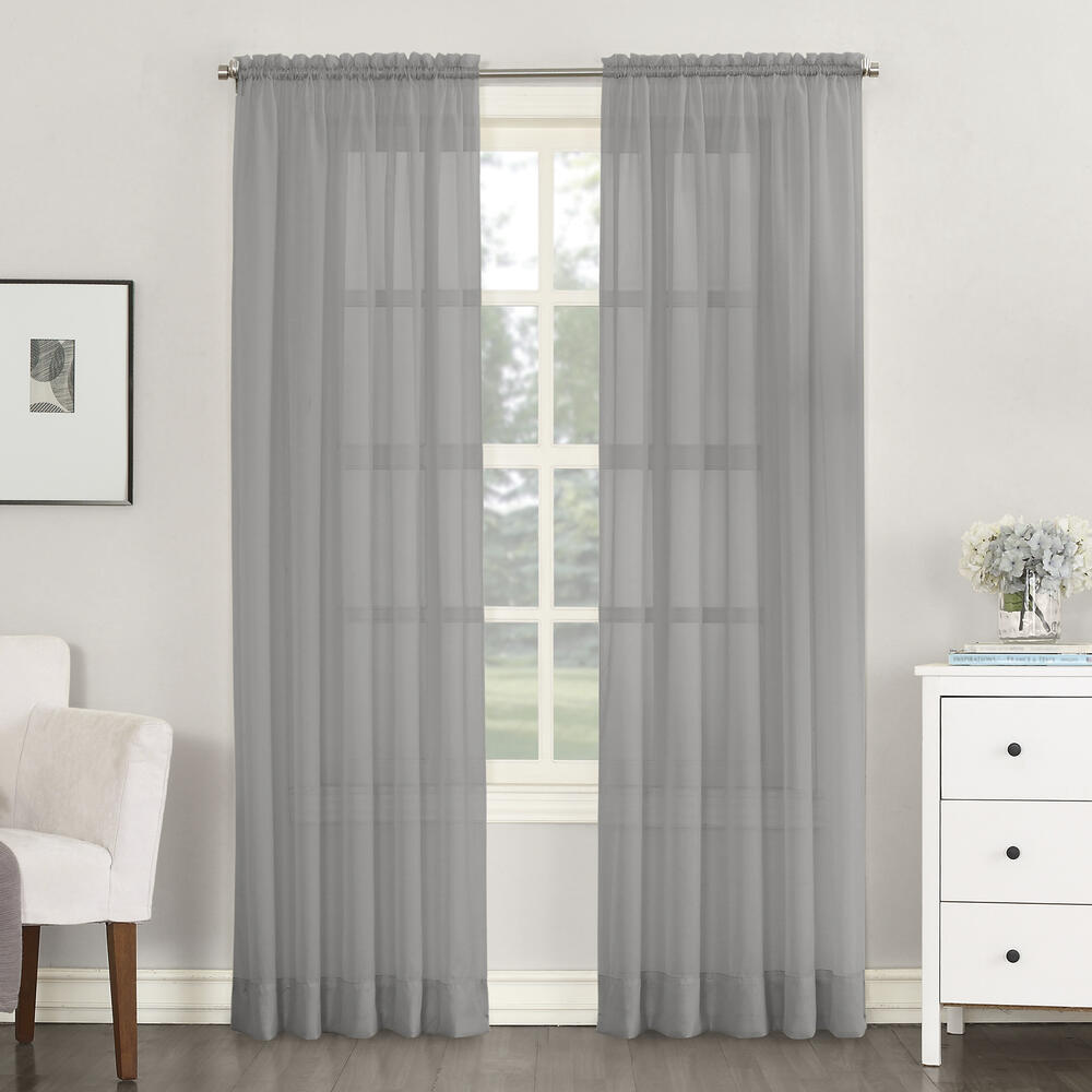 No 918 Emily 59 W X 84 L Sheer Rod Pocket Curtain Panel At Menards
